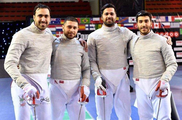تیم ملی اسلحه سابر ایران هفتم دنیا شد