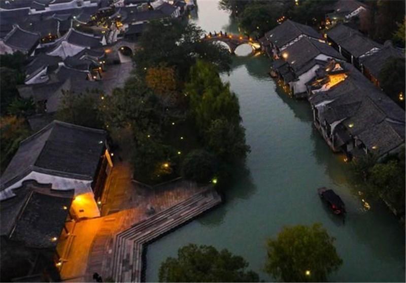 تصاویر شهری بر روی آب در چین