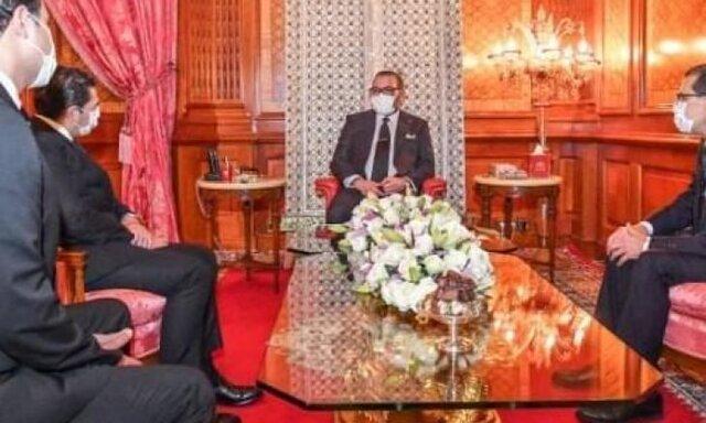 حضور پادشاه مراکش در جلسه کابینه با ماسک