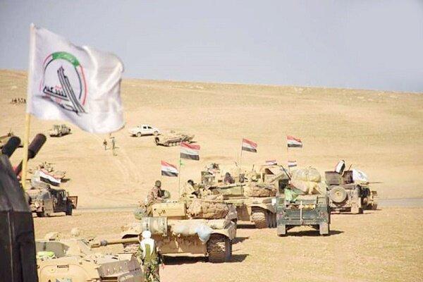 حشد شعبی مناطق وسیعی از صحرای غرب صلاح الدین را پاکسازی کرد