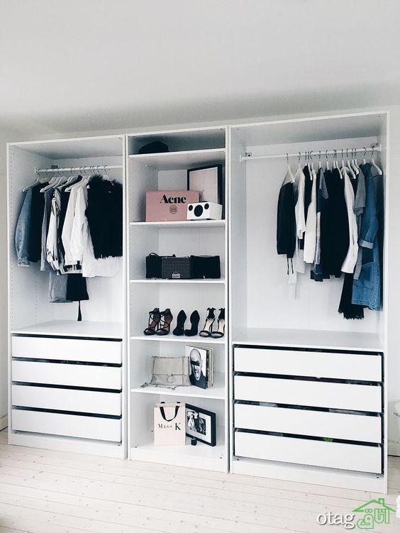 مدل کمد لباس مدرن و جا رختی شیک در طراحی داخلی
