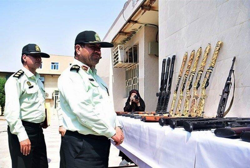 دستگیری 91 نفر از عاملان تیراندازی های غیرمجاز در خوزستان ، کشف 153 قبضه سلاح