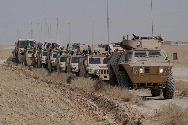 ورود ستون نظامی آمریکایی به پایگاه نظامی عین الاسد در غرب عراق