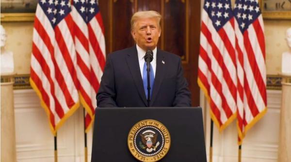 پیام خداحافظی ترامپ و ورود بایدن به واشنگتن