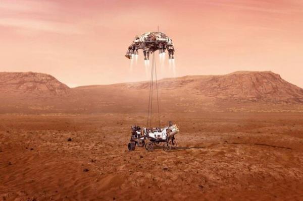 مریخ نورد استقامت با موفقیت روی سطح مریخ نشست