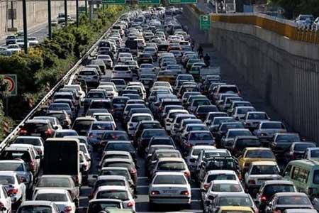 ثبت بیشترین تردد جاده ای بین ساعات 18 تا 19 در شبانه روز گذشته