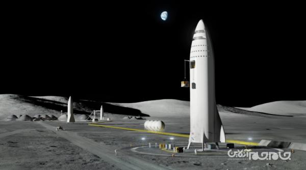 اسپیس اکس نمونه اولیه فرودگر ماه را آزمایش می نماید